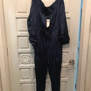 Bcbg NWT off the shoulder flight jumpsuit. Medium